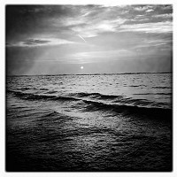 Black&white_sunset